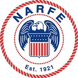 Graphical logo for NARFE.