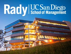 Graphic of UCSD Rady School of Management (Exterior View).