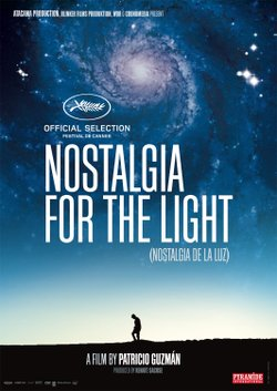 "Promotional graphic for the documentary, ""Nostalgia for the Light"" screening at the Central Public Library on September 10th, 2012."