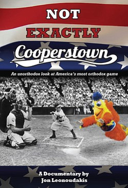"Movie poster of filmmaker Jon Leonoudakis' ""Not Exactly Cooperstown"" documentary."