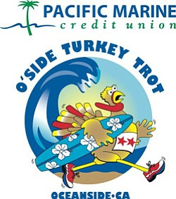 Graphic logo for the Oceanside Turkey Trot.