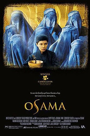 "Promotional movie poster for ""Osama""."