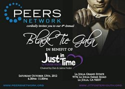 An invitation to the 3rd Annual Black Tie Gala In Benefit Of Just In Time.
