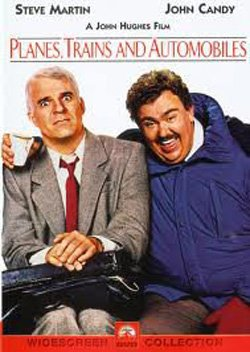 """Movie poster for """"Planes, Trains and Automobiles"""" playing at the Pearl Hotel on November 21st."""