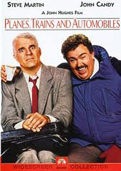 "Movie poster for ""Planes, Trains and Automobiles"" playing at the Pearl Hotel on November 21st."