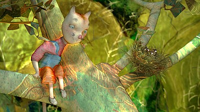 "Promotional graphic from the film ""Pretty Kitty's Flower."" Courtesy of the San Diego International Children's Film Festival."