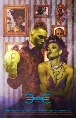 "Promotional graphic for ""The Privileged Series"" by Anthony Dortch Jr., October 13 – November 3, 2012 at ArtHatch Gallery. Courtesy of Anthony Dortch Jr."