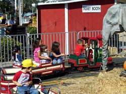 Promotional photo of young guest enjoying an El Paso train ride at Pumpkin Station in El Cajon. Courtesy of Pumpkin Station