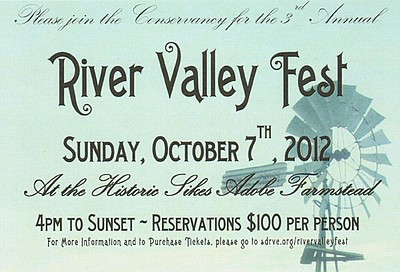 Promotional graphic for the 3rd Annual River Valley Fest on Sunday, October 7th, 2012.