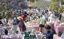 Promotional photo of shoppers at one of San Diego Potters' Guild's outdoor sales.