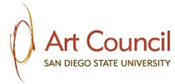 Graphic logo of the SDSU Art Council.