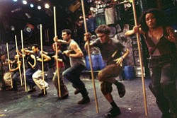 Promotional image of the unique musical theatre group STOMP performing at the California Center for the Arts Escondido on October 5 and 6, 2012