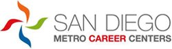 Graphical logo for San Diego Metro Career Centers.