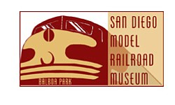 Graphic logo of San Diego Model Railroad Museum.