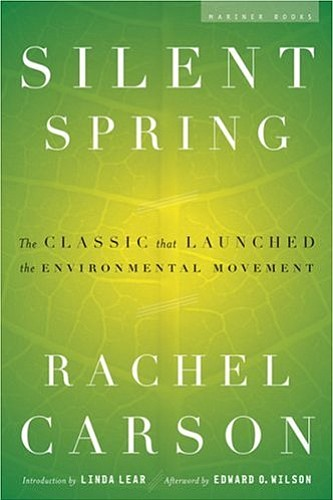 "Graphic cover of Rachel Carson's landmark book, ""Silent Spring."""