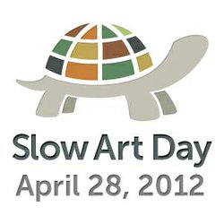Graphical logo of Slow Art Day, April 28th 2012.