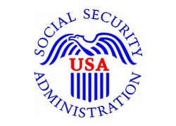 Graphic logo for Social Security Administration.