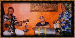 Promotional photo of Mark, Duda and Serginho from Sounds Of Brazil. Courtesy of Sounds Of Brazil.