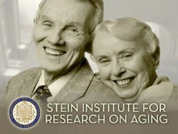 Promotional graphic for UCSD's Stein Institute for Research on Aging. Courtesy of UCSD.