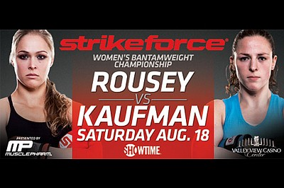 Promotional image of Rousey Vs. Kaufman at Valley View Ca...