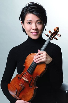 Image of Kyoko Takezawa, who will be performing at the Copley Symphony Hall April 12th - 14th, 2013.