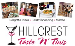 Promotional image of Taste 'n' Tinis Hillcrest on December 13th. Courtsey image of Fabulous Hillcrest.
