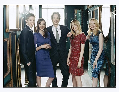 Promotional image of the 5 Browns -  performing at Copely Symphony Hall on April 19th & 20th at 8 p.m.