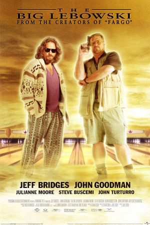 "Promotional graphic for the film, ""The Big Lebowski"" whic..."