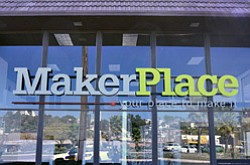 "Exterior image of the MakerPlace ""Your Place to Make It""."