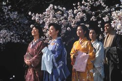 Promotional image from the movie, The Makioka Sisters.