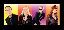 The B-52s, left to right: Keith Strickland, Cindy Wilson, Fred Schneider and Kate Pierson. Courtesy of Pieter M. Van Hattem
