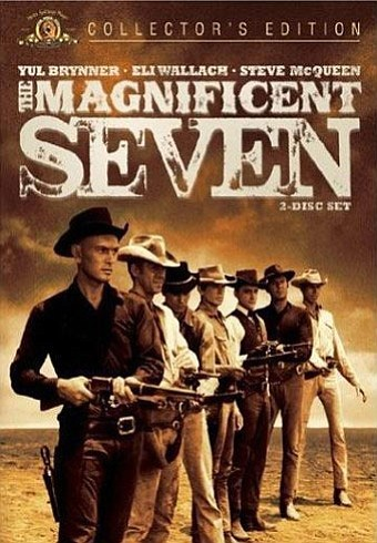 """DVD graphic for the film, """"The Magnificent Seven"""". Courte..."""