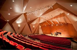 Interior image of UCSD Conrad Prebys Music Center.