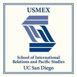 Graphic logo for USMEX- School of Internal Relations and Pacific Studies UCSD