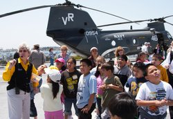 Kids having fun on the USS Midway. Courtesy of USS Midway Museum