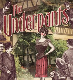 "Promotional graphic for ""The Underpants"" previewing on September 5th-7th, 2012 and shows will be held from September 8th-30th, 2012. Courtesy of North Coast Repertory Theatre."