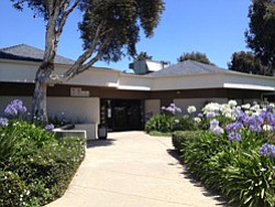 Exterior image of University Community Branch Library located at  4155 Governor Drive, San Diego, CA 92122.
