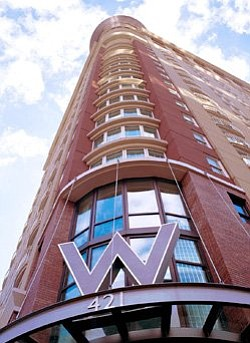 Exterior photo of the W San Diego Hotel. Courtesy of the W San Diego.