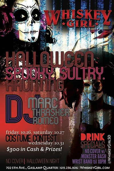 Promotional graphic for the Halloween Weekend at Whiskey Girl. Courtesy of Whiskey Girl.