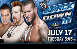Promotional image of WWE Smackdown at the Valley View Casino Center.