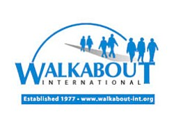 Promotional logo for Walkabout International, Established 1977 - www.walkabout-int.org.
