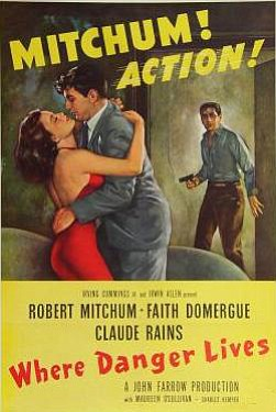 "Promotional graphic for ""Where Danger Lives."""