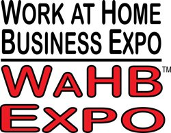 Graphic logo for Work at Home Business Expo.