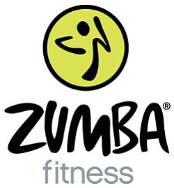 Graphical logo for Zumba Fitness.
