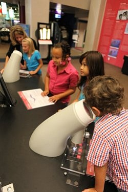 Image of children attending the Young Scientists public program. Courtesy of the Reuben H. Fleet Science Center.