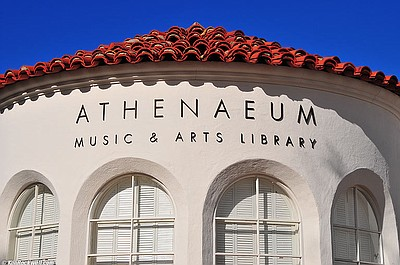 Exterior image of the La Jolla Athenaeum Music & Arts Library