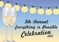 Promotional graphic for the 5th Annual Everything Is Possible Celebration on October 13th at the Del Mar Country Club.