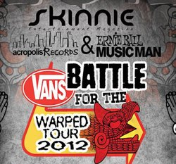 Promotional graphic for VANS Battle of the Bands Warped Tour 2012.