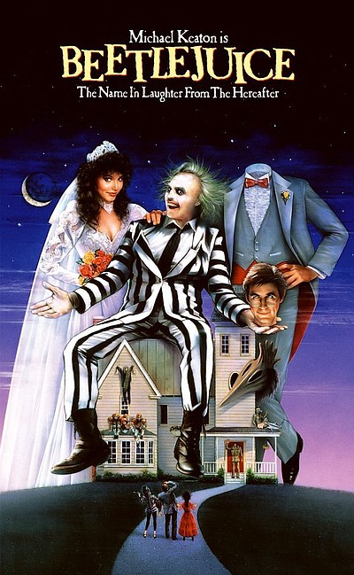 "Promotional graphic for the film, ""Beetlejuice"""