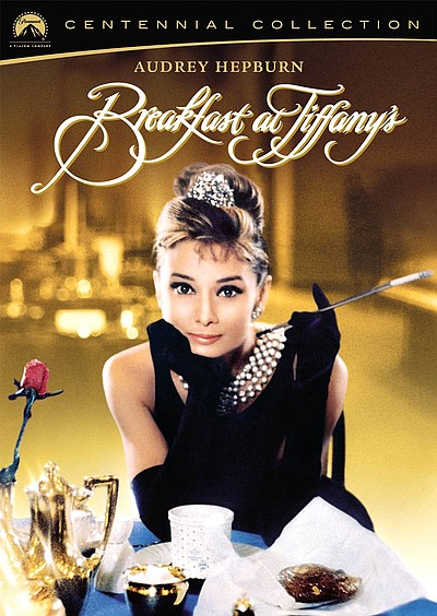"Promotional graphic for the film ""Breakfast at Tiffany's."""
